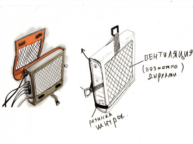 Чехол для спутникового приемника — вариант 2