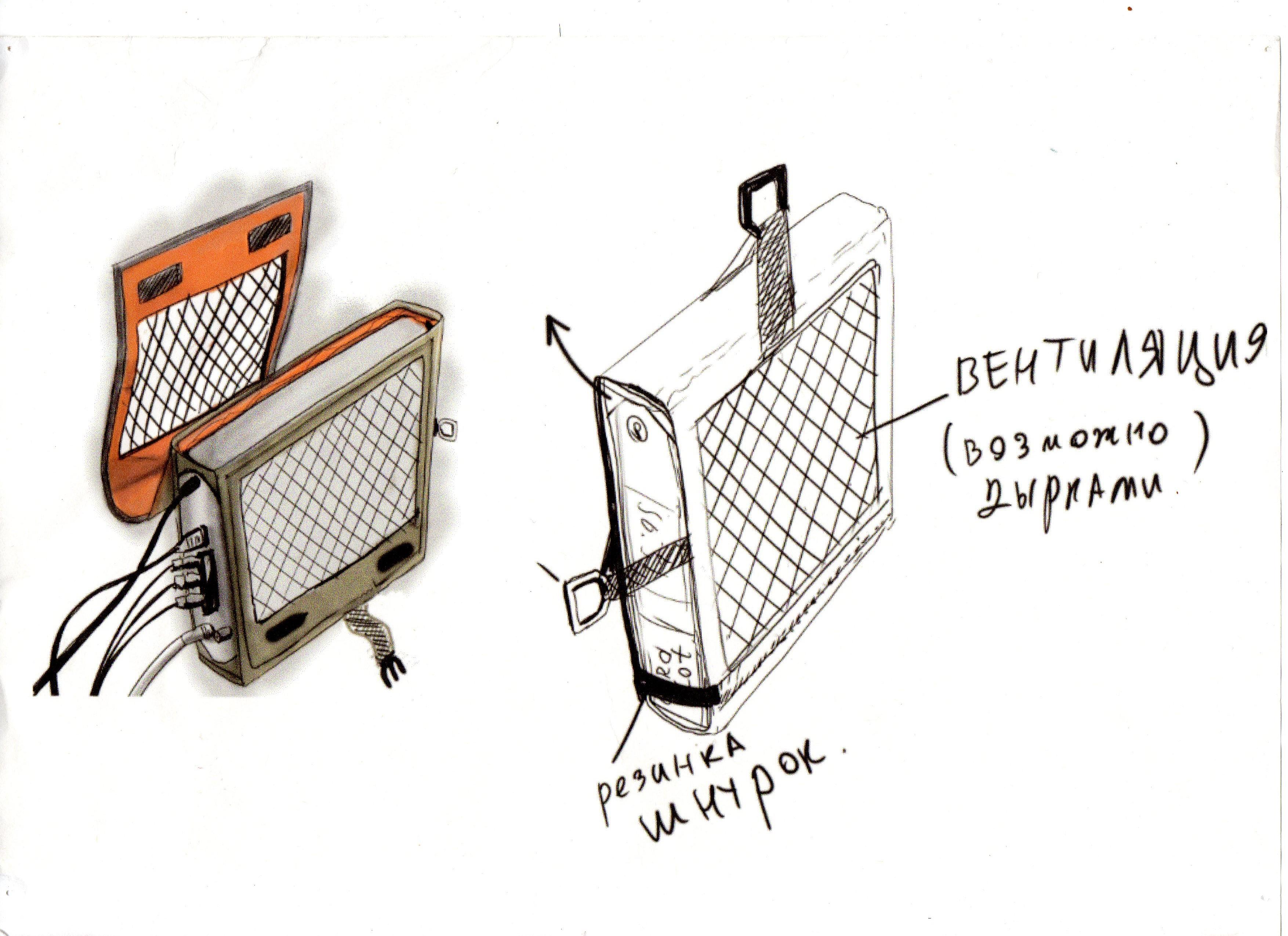 Чехол для спутникового приемника - вариант 2